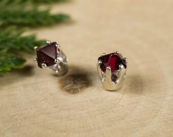 Spinel Sterling Silver Earrings
