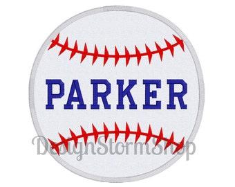 Baseball Applique Design/Sports Machine Embroidery Design/Instant Digital File Download/Softball Applique Design/Monogram/Personalize/Boy