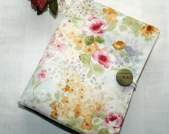 Watercolor Flowers - Feminine Wallet Organizer - Purse Accessory - Note Pad and Pen Case - Business Cards - Tea Bag Tote - Gift for Her
