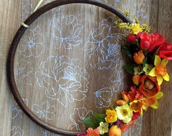 Red and Orange Wreath | Floral Decor | Housewarming Gift | Floral Arrangement