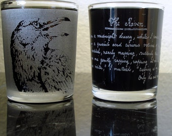 The Raven Shot Glass Set Edgar Allan Poe