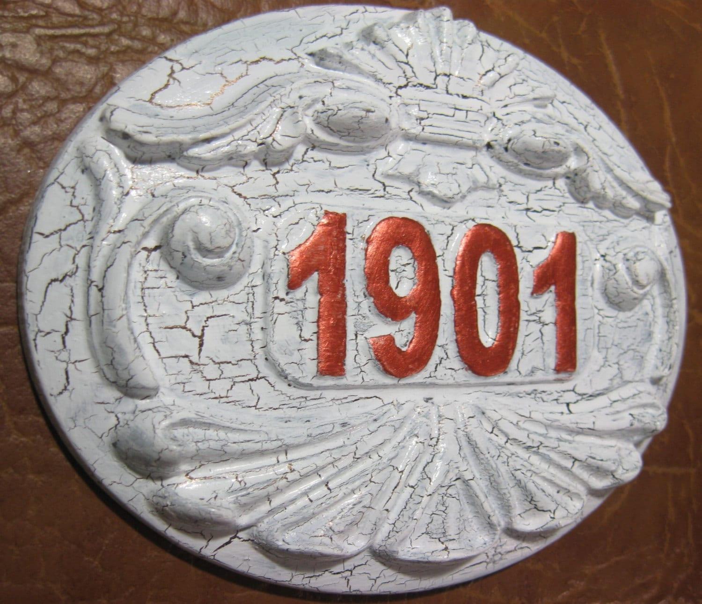 🔎zoom - Apartment Number Door Plaques Any Apt. Number Antique Door