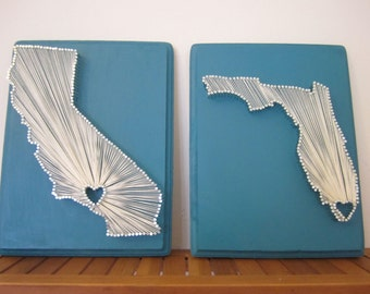 Custom String Art for All States, Countries, Provences