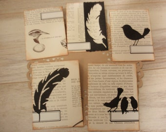 Envelopes Handmade Birds Set 2
