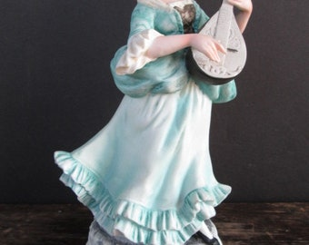 Woman with Mandolin Figurine