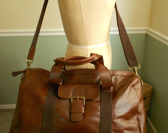 Travel Bag / Leahter Duffle Bag / Weekender Bag / Overnight Bag  Sale