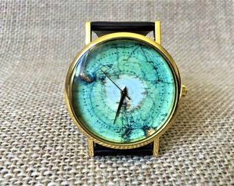 Earth watch etsy globe watch personalized watch engraved watch earth watch world map map gumiabroncs Image collections