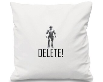 Doctor Who Cushion, Cyberman Cushion, Delete Cushion, Tardis Cushion, Time Travel Cuahion, Alien Cushion, Robot Cushion, TimeLord Cushion