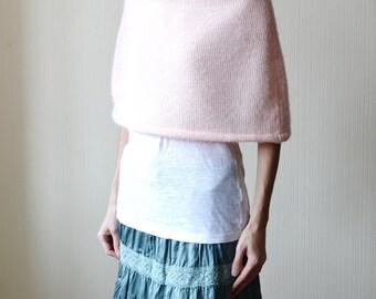 knit poncho pink poncho wedding cover up wedding capelet wedding shawl knit wrap rustic wedding winter wedding wrap bridal wrap