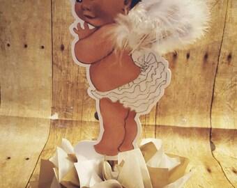 Ruffle Pants Baby Girl | Vintage Baby Girl | Angel Baby Girl | Baby Shower