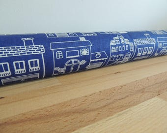 Blue & white draft Stopper. Light blocker. Window snake. Draught excluder. House and home accessory. energy saver. window draft stopper