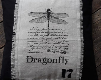 Dragon fly or butterfly elephant pillow