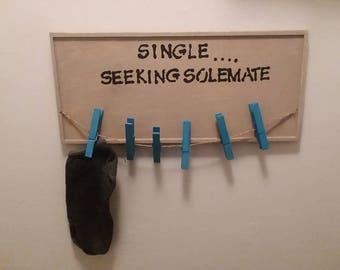 Missing sock hanging sign