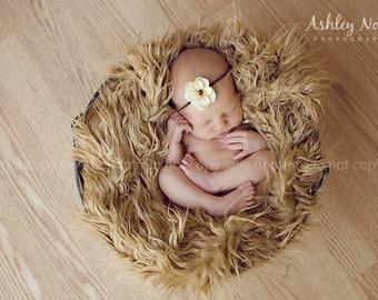 Baby headbands, tellow headbands, photography headband, infant headband, Light yellow, lemon, flower headband, photo prop.