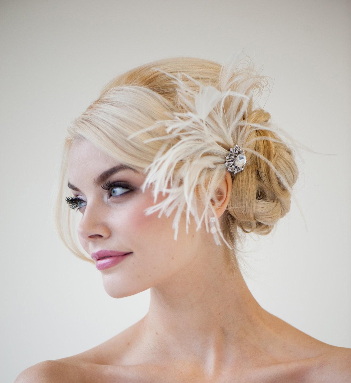 Fascinator Headpiece: Bridal Fascinator Wedding Fascinator Feather Headpiece