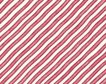 Red and White Diagonal Stripe