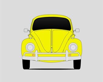 Volkswagen Beetle Poster // VW Beetle // VW Bug // Volkswagen Type 1