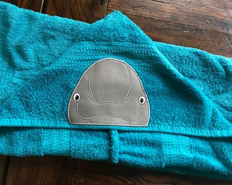 Beluga Whale Hooded towel