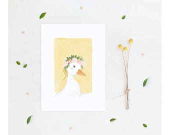 Art Print Poster The Beautiful Lady Series - Solana The Duck