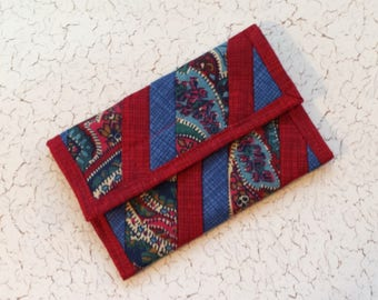 Quilted Coin Purse (CP166) Paisley