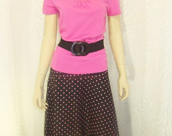 Flared Polka Dot Skirt