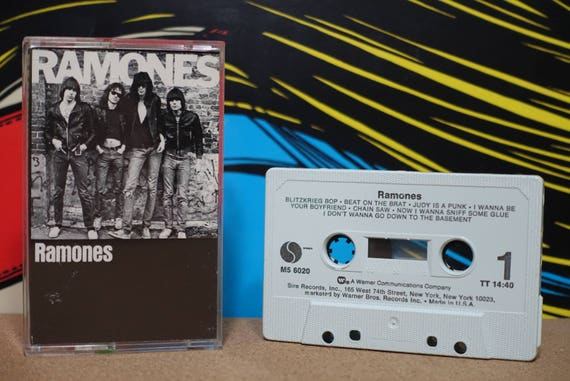 Ramones (Rare White/Blue Mint '77 pressing) by Ramones Vintage Cassette Tape