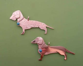 Dachshund pendant with Chain