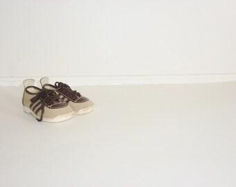 Vintage Brown Baby Shoes