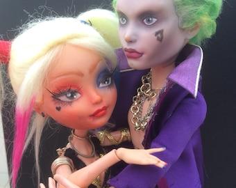 OOAK monster high + ever after high custom dolls/ Harley Quinn and the Joker