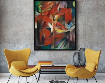 The Fox by Franz Marc 1913 Expressionist Painting Expressionism Art Fox Wall Art Abstract Wall Art Abstract Animal