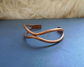 Vintage Copper Open Bangle Bracelet