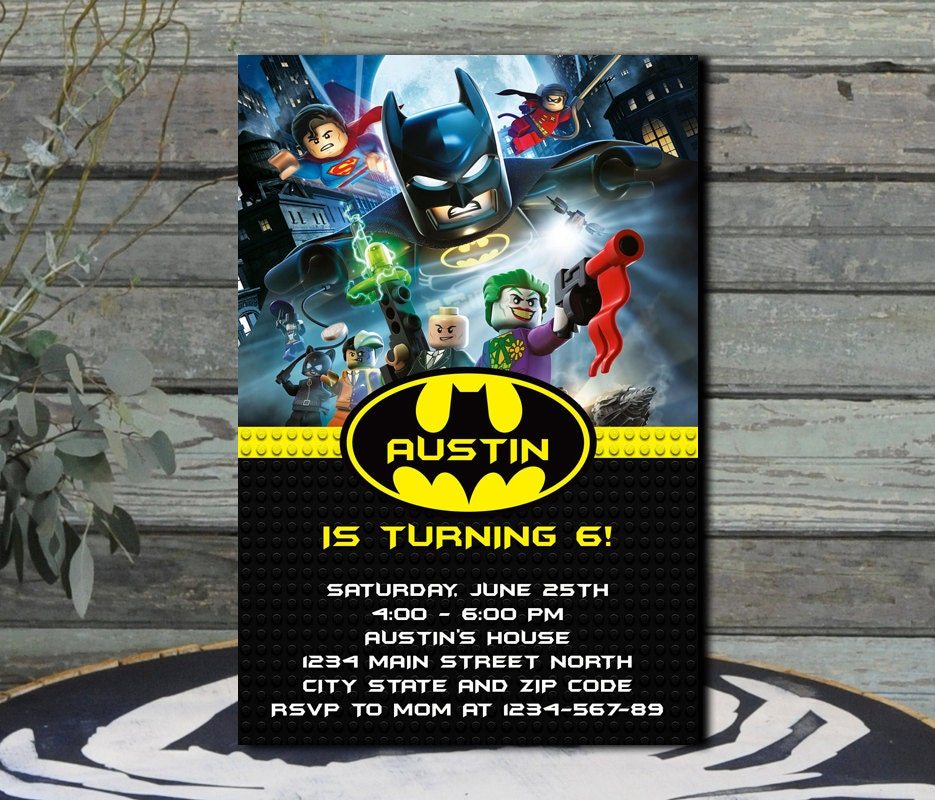 Batman Lego Batman Lego Invitation Batman Lego Birthday