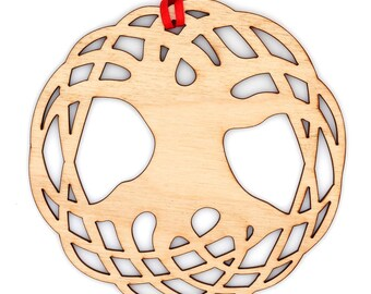 Wooden Tree of Life Ornament
