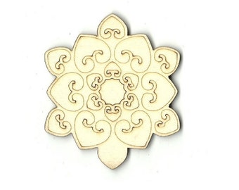 Snowflake - Unfinished Laser Wood Cut Out Shape Craft Supply SNW1