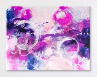 Large Wall art Original abstract painting Abstract art Abstract wall art Painting on Canvas Art Modern artwork Contemporary Pink painting