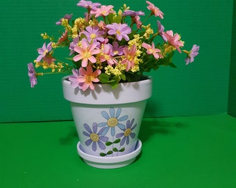 Decorative Mother's Day pot, Terracotta Planter