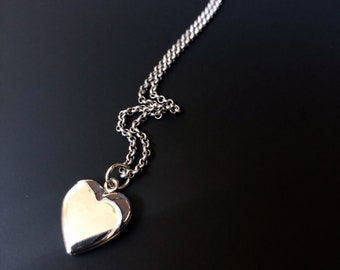 Sterling Silver Heart Locket on a Silver Plated Chain