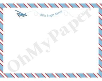 Airplane Flat Notes - Set of 20