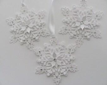 Christmas Gift Tags, Snowflake Gift Tags, Snowflake Ornaments, White Snowflake Tags, Holiday Gift Tags, Hang Tags, Snowflakes Tags,Gift Tags