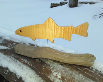Trout Decoration (curly maple)