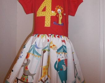Circus Themed Boutique Dress