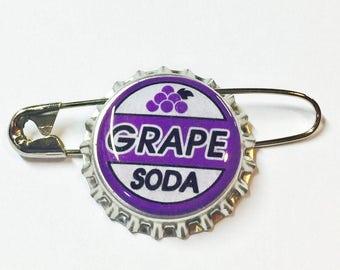 Replica Ellie Badge Grape Soda Pin Bottlecap Up