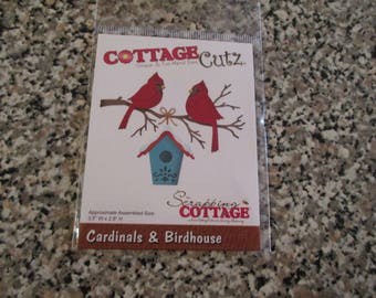Cottage Cutz, Cardinals & Birdhouse Die