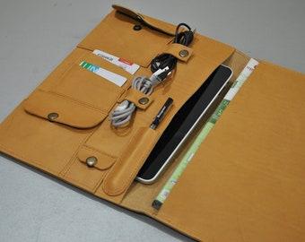 Leather Ipad Air case Leather Moleskine cover  Leather travel organizer Ipad leather bag iPad Portfolio Ipad leather sleeve