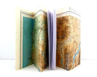 Travel journal, Travel notebook, Travel gift, Journal notebook, Map journal, Travellers journal, Lake District gift, Vintage map notebook