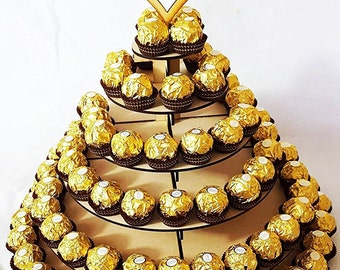how to make a ferrero rocher pyramid stand