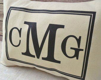 Personalized pillow , Monogram pillow, Christmas gift, Initials, newlywed  pillow, college graduate, engagement gift, divorce, wedding gift