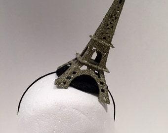 Paris Fascinator -Eiffel headpiece- Paris Headband- Eiffel Tower fascinator- Kentucky Derby Hat- Polo Match Fascinators -