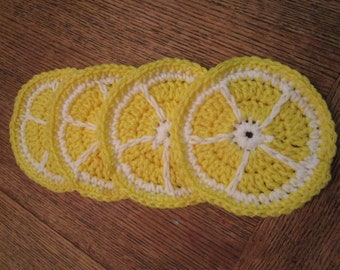 Lemon coaster: set of 4