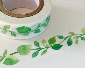 Watercolor Ash Tree Vine Washi Tape